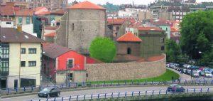 Dibujo sobre teórica fragmento de muralla entre calles El Muelle y La Muralla.