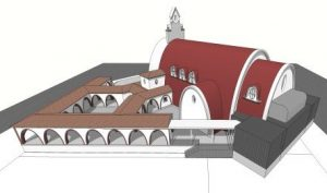 Maqueta del templo.
