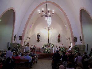 Última liturgia celebrada en el templo, el 16 de julio de 2008 (Foto cedida por José Carlos Valdés)